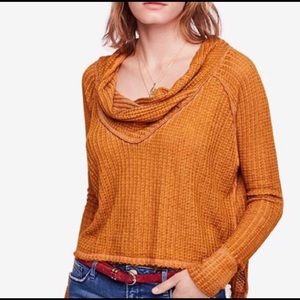 NWT Free People Wildcat Country Road Thermal Top
